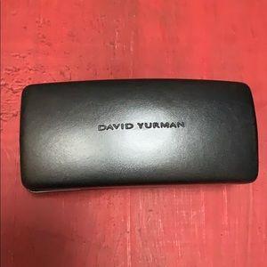David Yurman pewter color oversized sunglass case